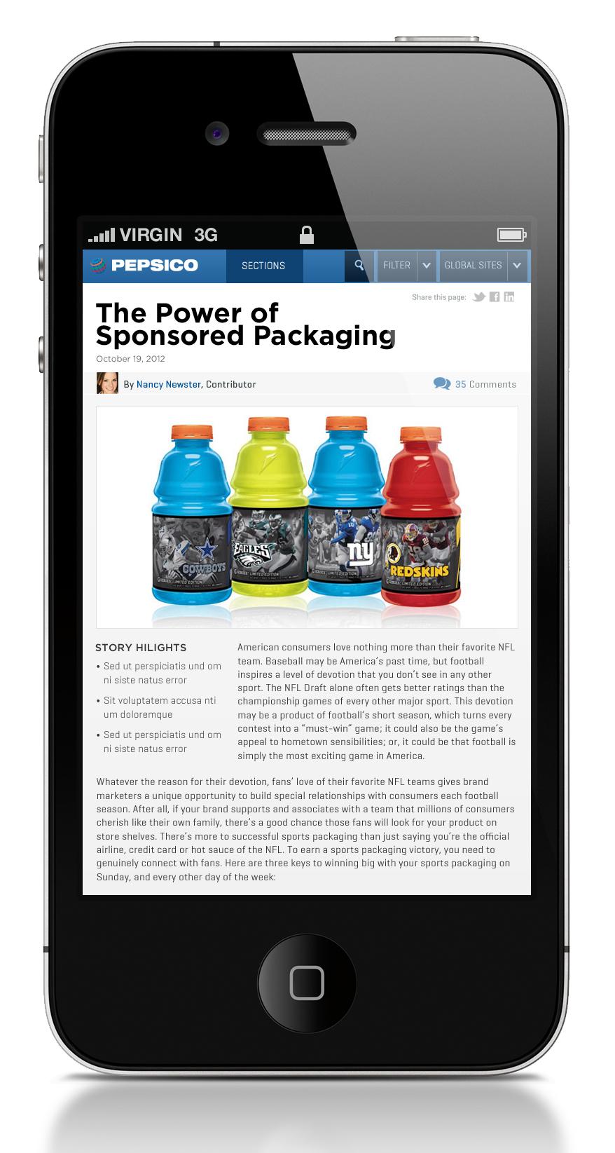 Pepsico Mobile News Detail