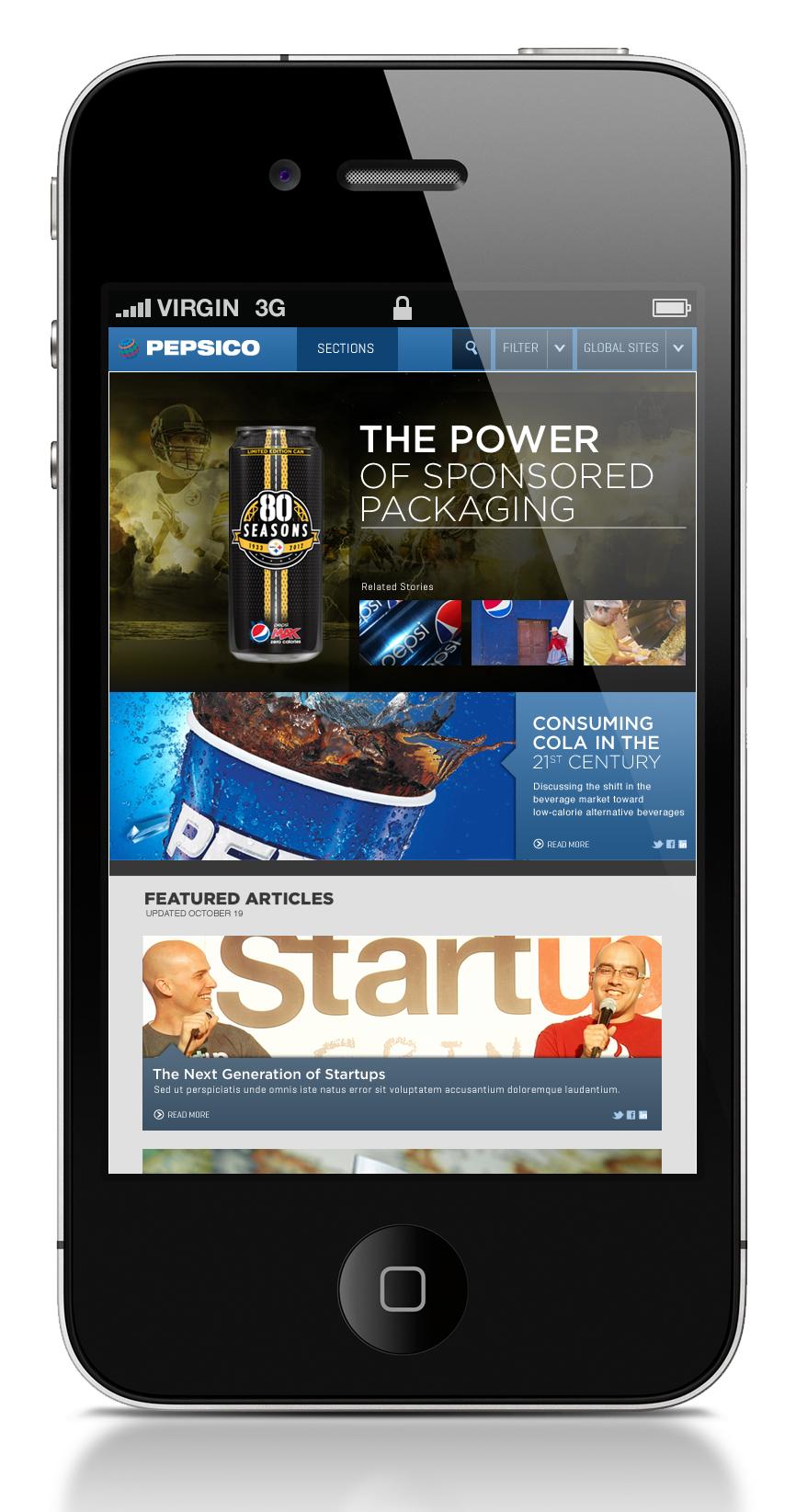 Pepsico Mobile News