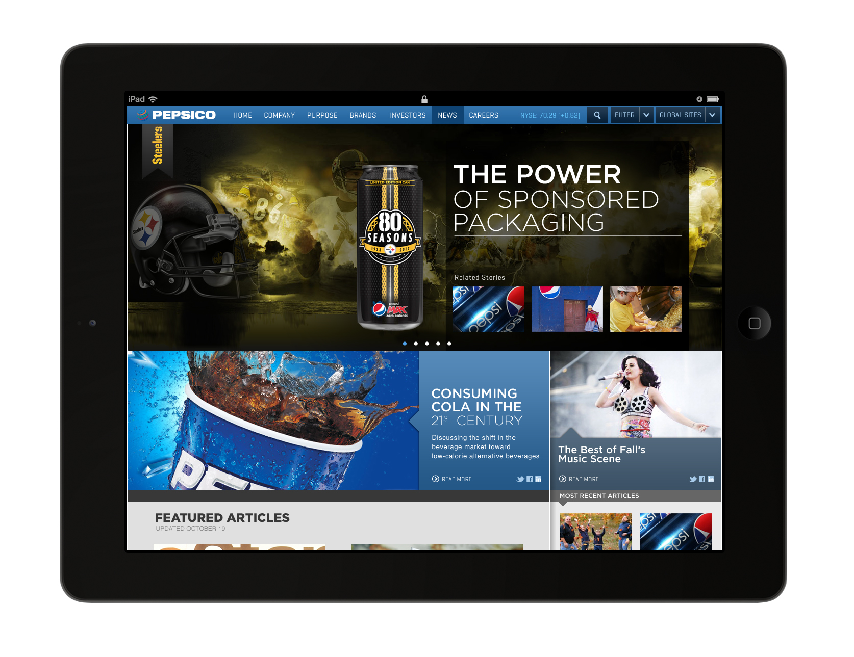 Pepsico Tablet News
