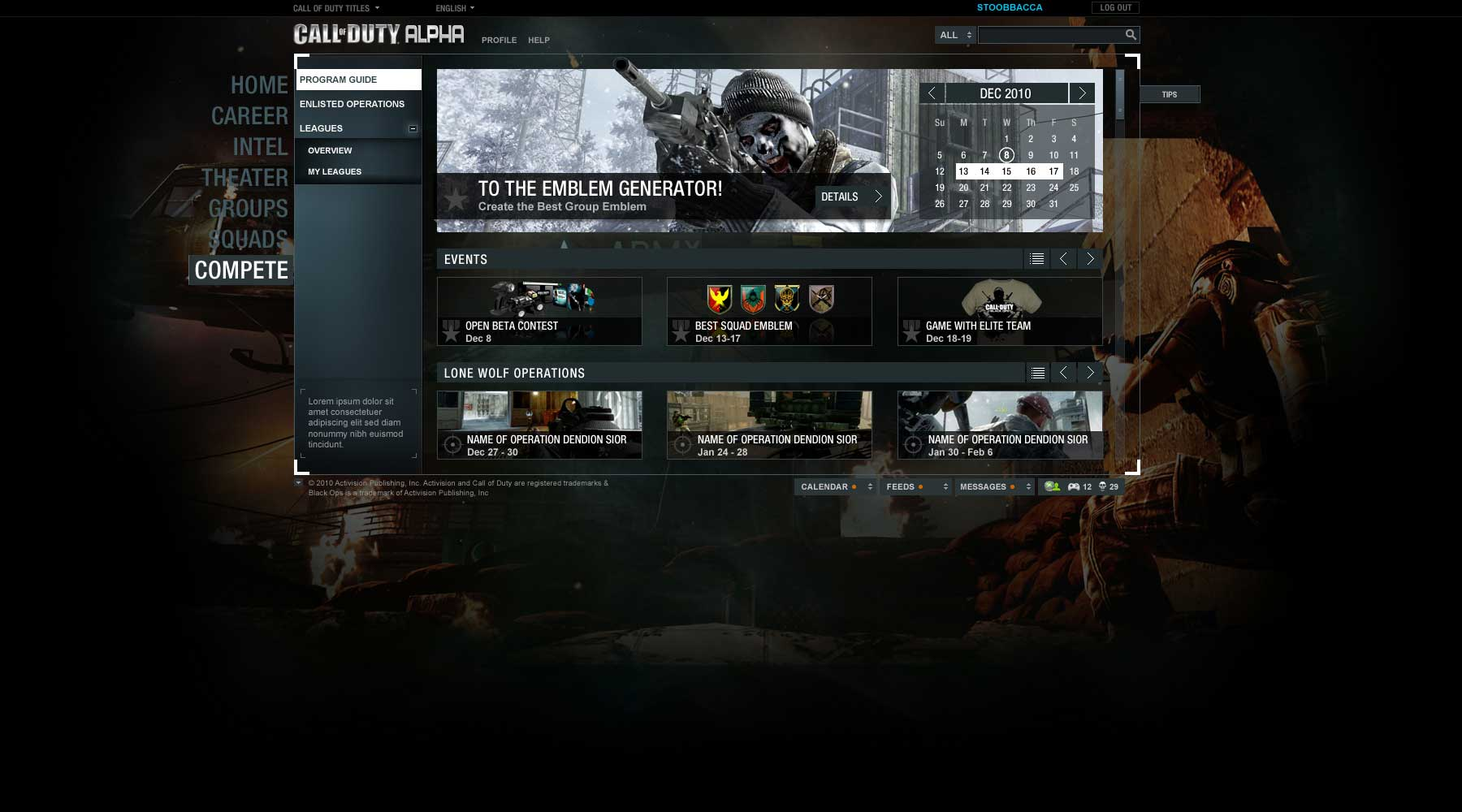 Activision Call of Duty: Blackops - Compete: Program Guide 2
