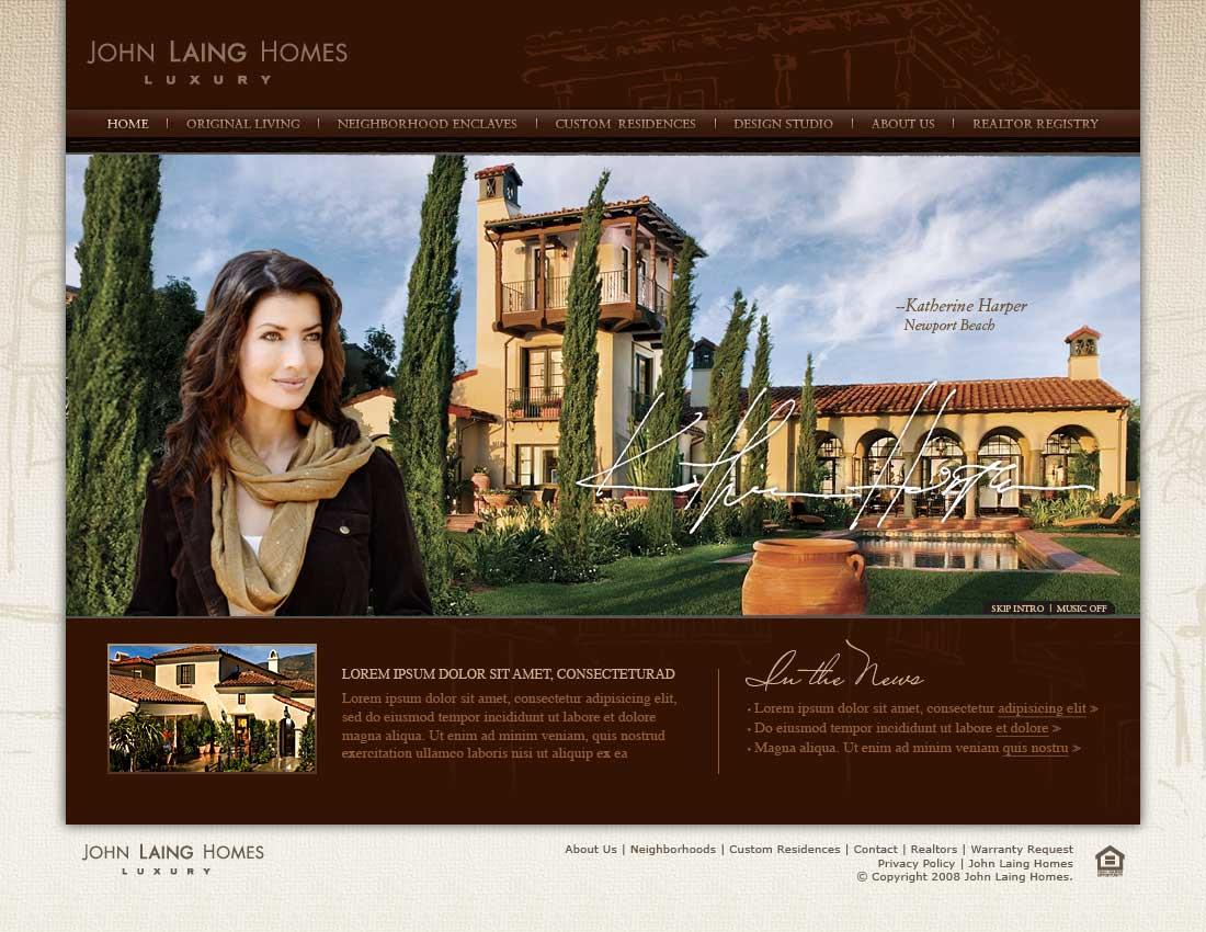 John Laing Homes Landing Page