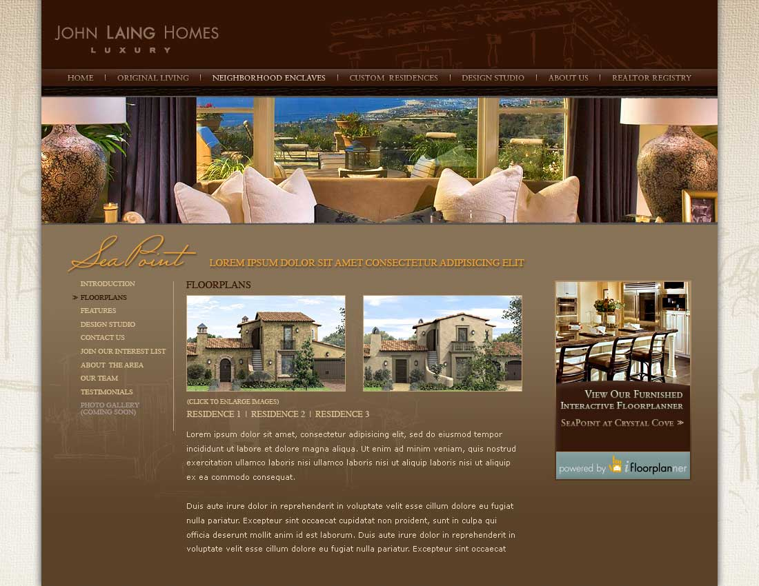 John Laing Homes - Neighborhood Enclaves - Floorplans Seapoint
