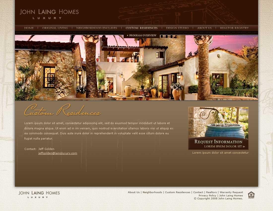 John Laing Homes - Custom Residences