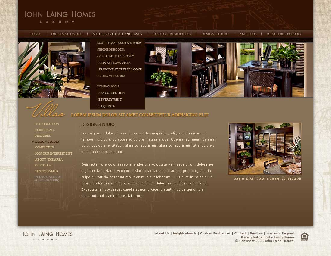 John Laing Homes - Neighborhood Enclaves - Design Studio